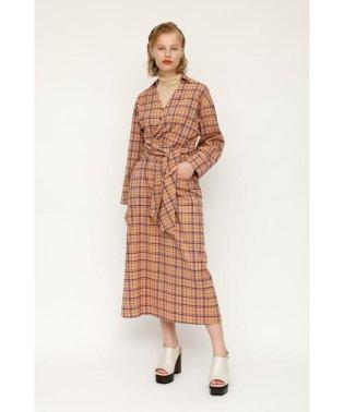 AIRY CHECK TWIST TIE ドレス