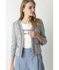 ◆ブレードトリミングカラーツイードジャケット