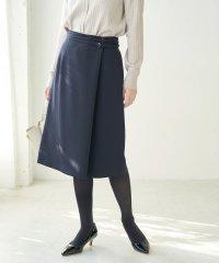 【WEB限定34-42サイズ】【セットアップ対応】ストレッチラップ風スカート