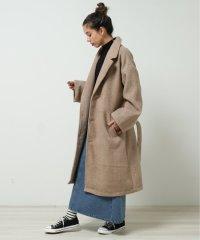 フレアチェックコート