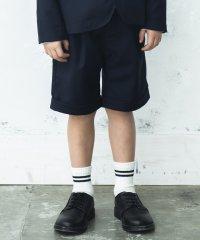 【キメ服】サージ/チェックハーフパンツ(100~130cm)
