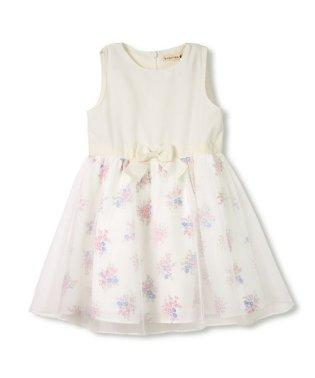 【キメ服】花柄ジャンパースカート(100~130cm)
