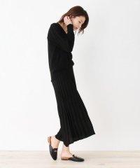 【M-L/2点セット】畦編みニット+スカート ニットアップ