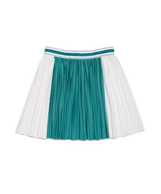 バイカラープリーツスカート