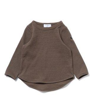 メッシュワッフル 長袖Tシャツ