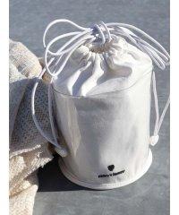 PVC×コットン巾着bag