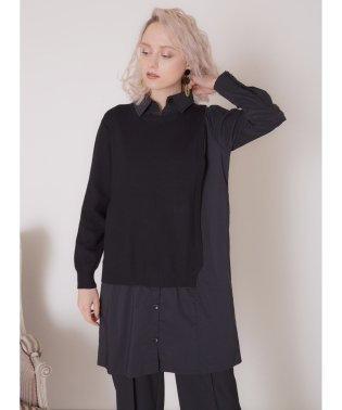Asymmetry Knit Shirt