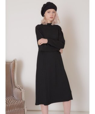 Side Pleat Knit Onepiece