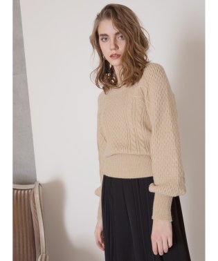 Square Cable Puff Knit