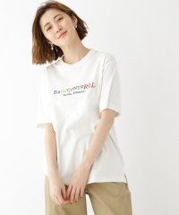 カラー ロゴ 刺繍 半袖 Tシャツ