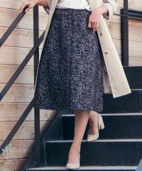≪洗濯機で洗える≫ラインフラワージャガードスカート