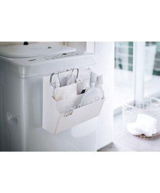 洗濯機横マグネット収納ポケット 3段 タワー ホワイト