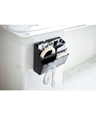 洗濯機横マグネット収納ポケット 3段 タワー ブラック