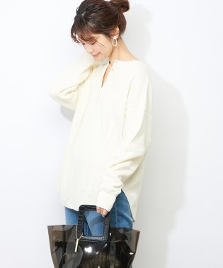 【natural couture】ワッフル2WAYビッグプルオーバー