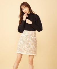 パールツィード台形ミニスカート