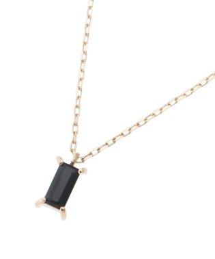 カラーストーン(オニキス) バゲットカット ネックレス