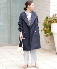 【WEB限定】リボンスリーブノーカラーコート