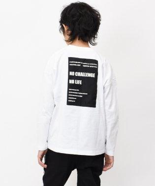 バックボックスロゴビッグ長袖Tシャツ