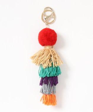 毛糸フリンジバッグチャーム