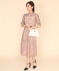 Rire Fete(リルフェテ) フラワーレースデザインドレス