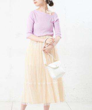 【natural couture】ワンショル風ネックプルオーバー