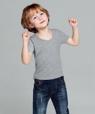シームレス U型 リブ Tシャツ