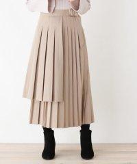 サイドバックルラップ風プリーツスカート