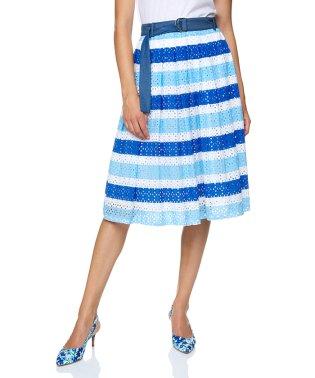エンブロイダリー刺繍ボーダーフレアロングスカート