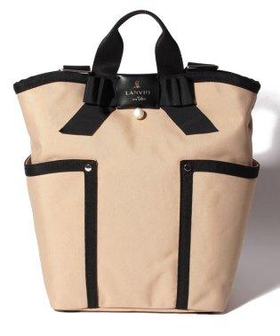 ミニポーチ付きリボントートバッグ