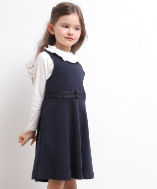 【ROPE' PICNIC KIDS】ウエストリボンジャンパースカート