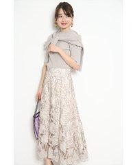 【Marisol4月号掲載】レース刺繍フレアスカート