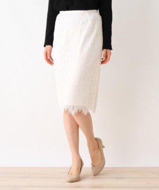 【洗える・42(LL)WEB限定サイズ】パターンレースタイトスカート