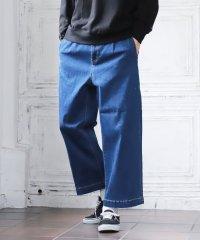 デニムワイドアンクルパンツ / ワイドパンツ デニム ジーンズ デニムパンツ メンズ