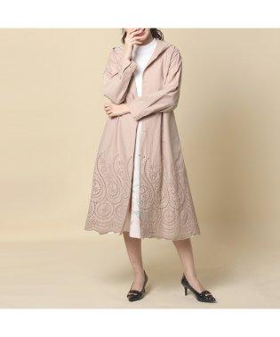 裾刺繍ロングマウンテンパーカー