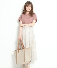 【美人百花/and GIRL4月号掲載】カットワークロングフレアスカート