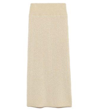 ラメ混ニットタイトスカート