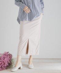 エコレザースリットタイトスカート