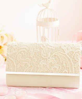 【結婚式・お呼ばれに使えるパーティーバッグ】メタルフレーム×レース刺繍パーティクラッチバッグ