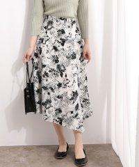 線花柄ハンカチヘムラインスカート