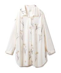 クリアフラワーシャツドレス