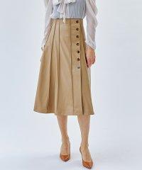 【セットアップ対応】サイドボタンフェイクレザースカート