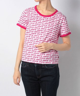 【WOMEN】GRAPHIC RINGER SURF TEE ALL OVER FILLED