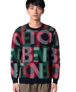 ベネトングラフィックニット・セーター