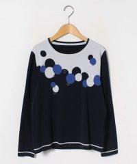 【大きいサイズ】インターシャ/丸首ニットセーター
