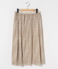 【大きいサイズ】ドットチュール プリーツスカート