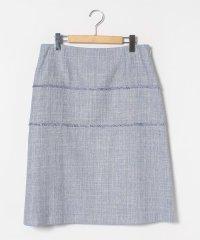 【大きいサイズ】【セットアップ対応】ラメ混ミックスツィード スカート