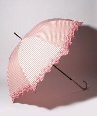 PAUL & JOE ACCESSOIRES(ポール アンド ジョー アクセソワ)傘【ストライプ フラワー刺繍】
