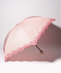 PAUL & JOE ACCESSOIRES(ポール アンド ジョー アクセソワ)折りたたみ傘【ストライプ フラワー刺繍】