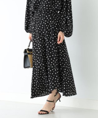Demi-Luxe BEAMS / ドット フレアスカート