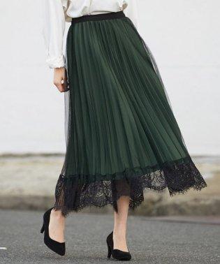 レースヘムリバーシブルスカート
